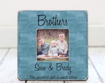 brothers picture frame gift personalized brothers frame best man best friends groomsman