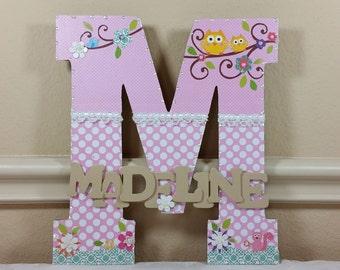Custom Nursery Letters, Nursery Art, Baby Nursery Decor, Children's Room, Wall Art, Name, Custom Letters, hanging decoration, birthday gift