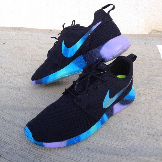 Custom Nike Roshe One Galaxy Sole & Swoosh by customsxcario