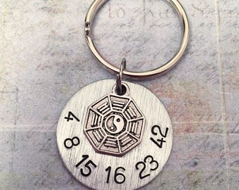Lost Tv show Inspired Numbers Keychain - Fandom Keyrings - Fandom Accessories - Dharma Inspired Accessories