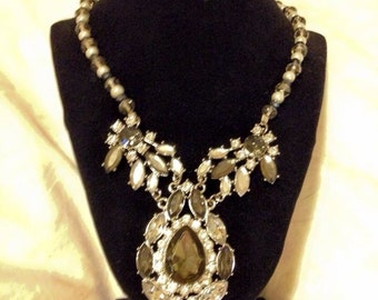 Statement piece, black and silver