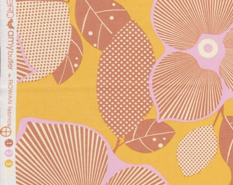 FQ - Amy Butler Midwest Modern2 for Rowan Fabrics - Optic Blossom in Gold - Quilting Cotton