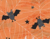 Mr. Bat-Fel Halloween Fabric- Springs Creative- 100% Cotton Designer Quilting Fabric