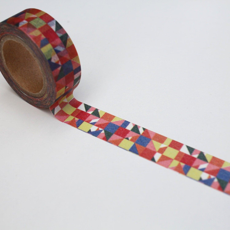 Geometric washi tape pattern planner deco tape gift wrap for Geometric washi tape designs