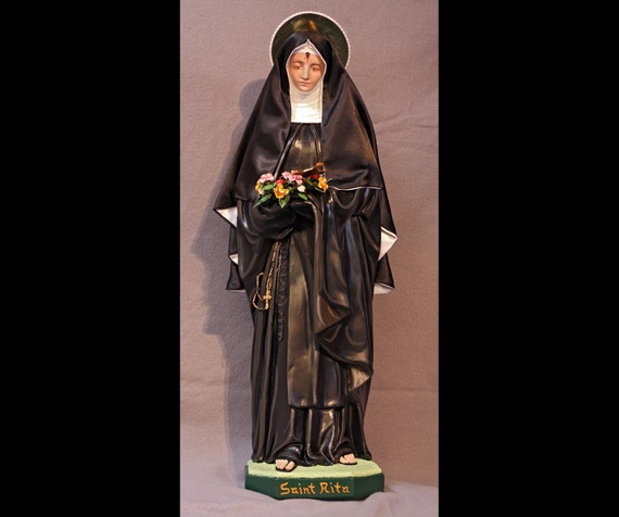 "St. Rita of Cascia 26"" Catholic Christian Saints Religious Plaster Statue"