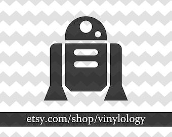 R2D2 Vinyl Sticker, Star Wars Car Decal, R2D2 Wall Decor, Star Wars Print, Vinyl Decals for Cars, Wall Stickers, Personalized Vinyl Stickers
