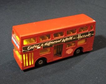 Vintage Matchbox Super Kings Harrods Double Decker Tour Bus - Made in England, The Londoner K-15