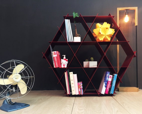 Large geometric shelf, DIY furniture, Metal shelves, Bookcase ...
