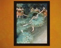 Quality Poster - Swaying Dancer 1878 Edgar Degas Print - Fine Art Print Retro Wall Decor Home Decor Design Impressionism Ballet Poster