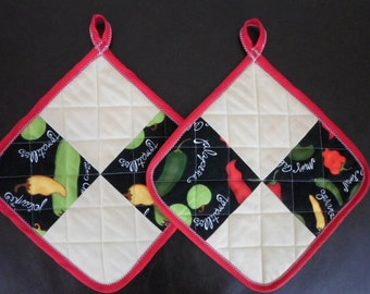 Quilted Potholders - Set of 2