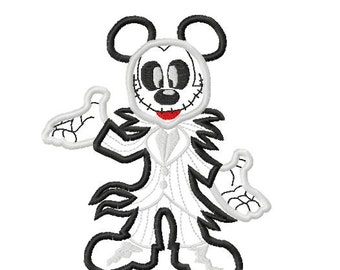 Character Jack Nightmare Full Body Embroidery Applique Design