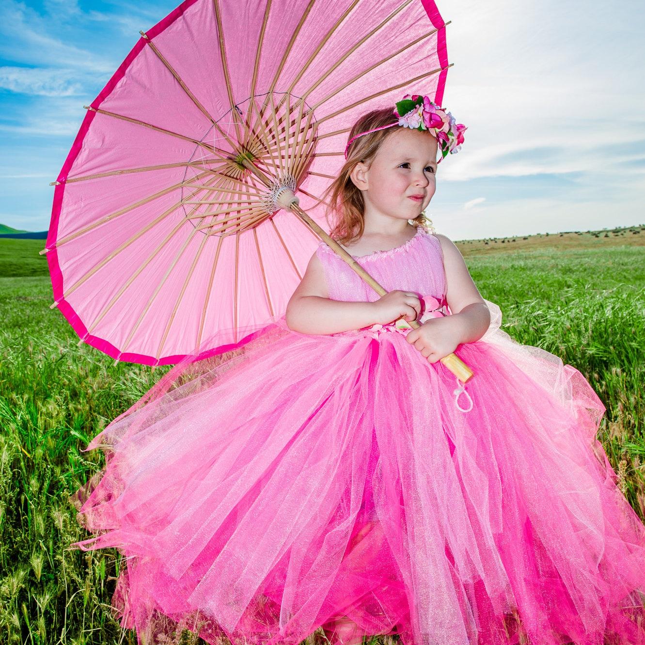 Handmade Tulle Flower Girl Dresses by GlitterGowns on Etsy