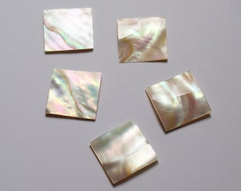 Mother of pearl square applique. Bulk of 5 pces