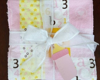 Baby Girl Burp Cloths