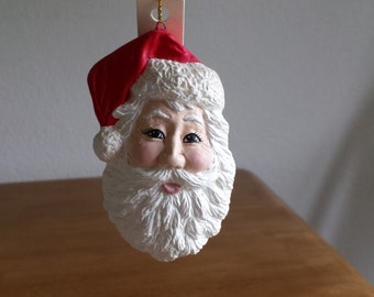 Ceramic Santa Face Ornament (#287B)