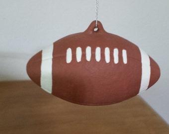 Ceramic Football Ornament (#511)