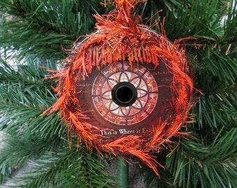 All Shall Perish Upcycled CD Ornament Deathcore Christmas