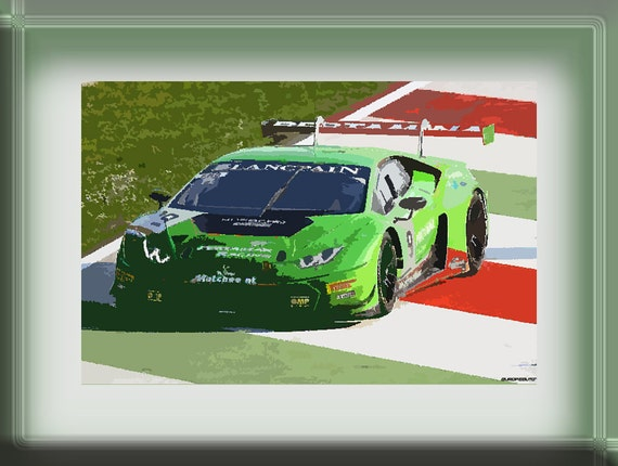 lamborghini huracan gt3 print race car car race by europaauto. Black Bedroom Furniture Sets. Home Design Ideas