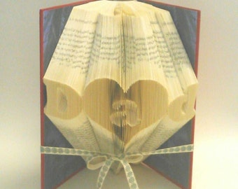 Dad with a in a Heart Book Folding Pattern. DIY. Make your own gift. Please read Listing. PDF Files Only.