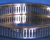 Top Quality Silver Plated Edwardian English Pierced Edge, Gadrooned Rim Gallery Tray in the Georgian Style