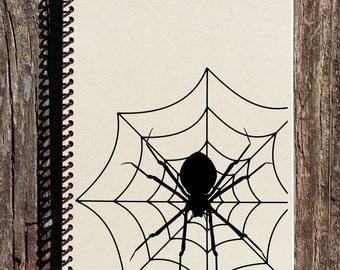 Halloween Notebook - Halloween Journal - Spiderweb Journal - Spiderweb Notebook- Happy Halloween Gifts - Halloween Gifts - Haunted Halloween
