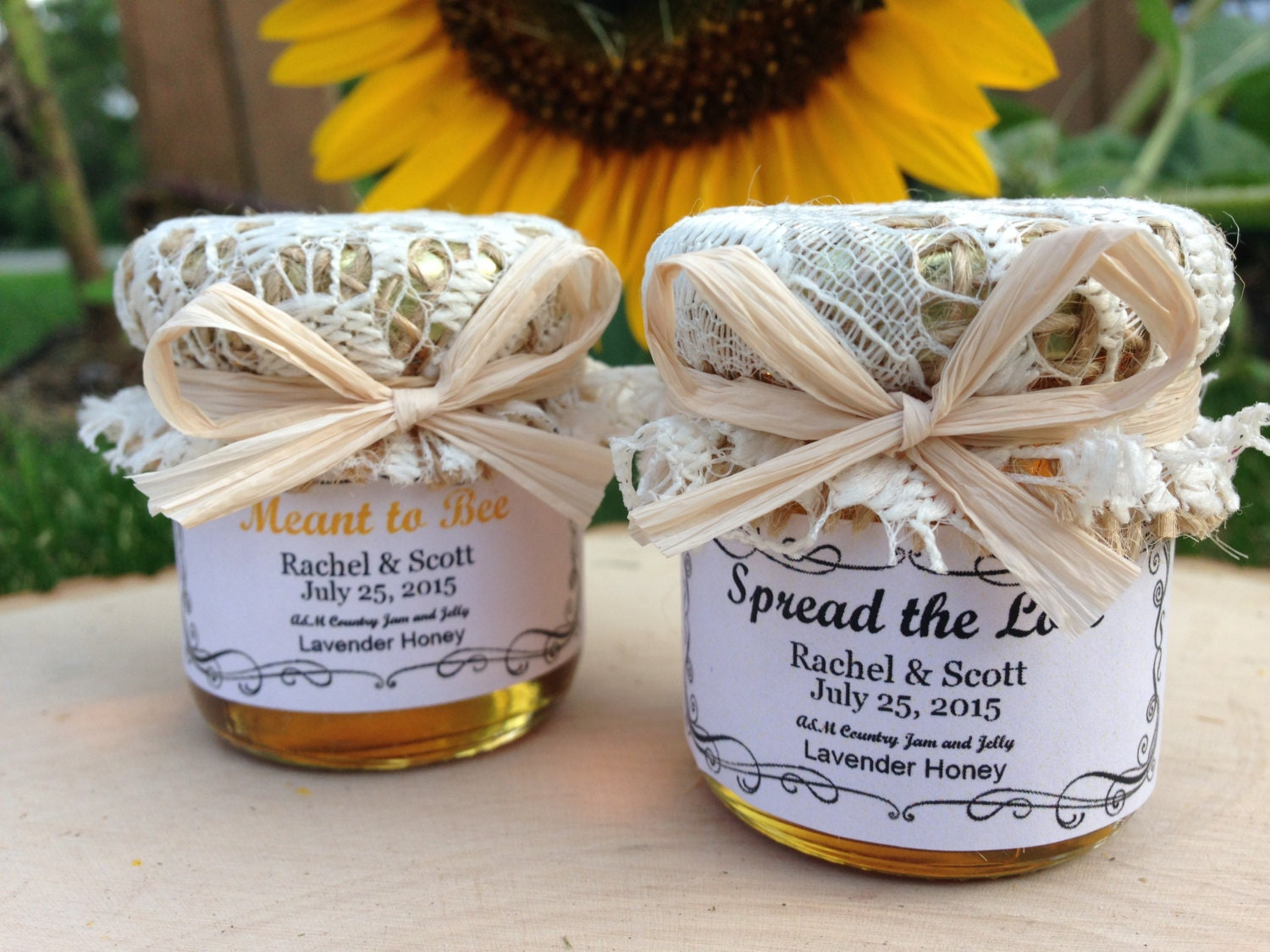 Meant to bee honey wedding favors 15oz jar by for Honey bee wedding favors