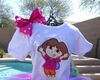 Personalized Dora the Explorer Birthday shirt only.