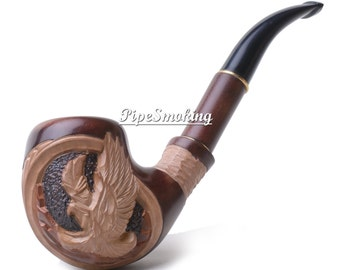 Wooden pipes, Wood pipe, Gift pipe, Tobacco smoking pipe, Pipe smoking, Tobacco pipe, Smoke pipe, Tobacco, Pipe, Smoking a pipe, Hand pipe