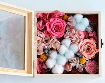 Preserved Flower Box - Memories (Pink)