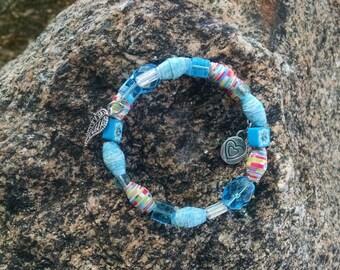 Aqua Bangle Wrap Bracelet (BW2)