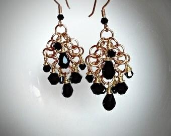 Chainmail Chandelier Earrings