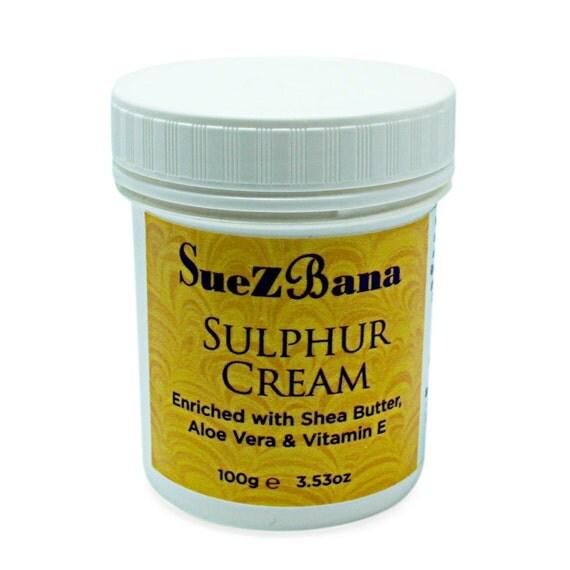 sulphur cream with shea butter aloe vera vitamin e 100g. Black Bedroom Furniture Sets. Home Design Ideas