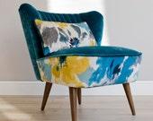 Madlena Mid Century Upcycled Armchair