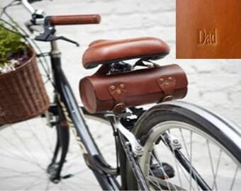 Personalised Leather Bike Saddle Bag By Vida Vida