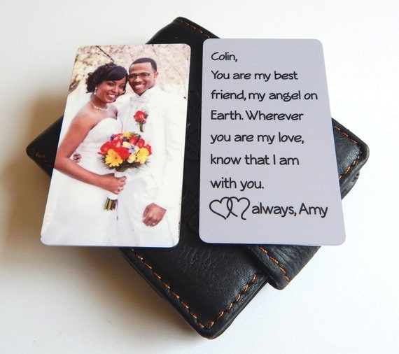 Wedding Gift Husband To Wife : ... Husband, Mini Photo wallet insert Gift from Wife to Husband, Wedding