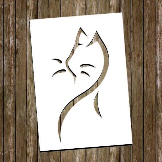 Cat Paper Cutting Template Cat Papercut Cat Cut Out Cat