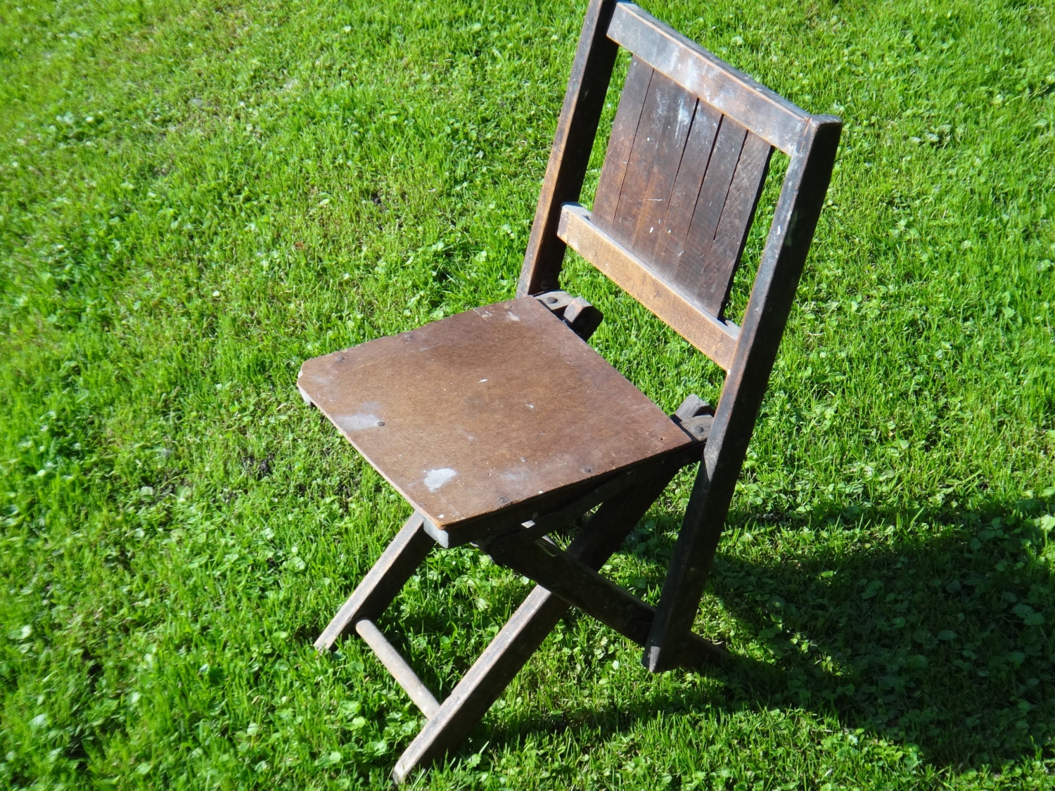 Small Chair Folding Chair Camp Chair Wooden by MaxsUniquities