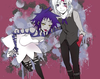 "D. Gray Man Art Print - 8""x10"" or 11x14"" - original anime manga art allen walker road - Bianca Loran Art"