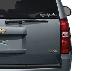 Kappa Alpha Theta Window Decal