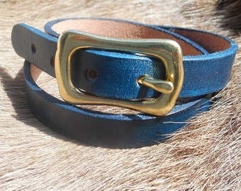 Leather Bracelet, bracelet leather wrapping, wrap bracelet with brass buckle in various colours
