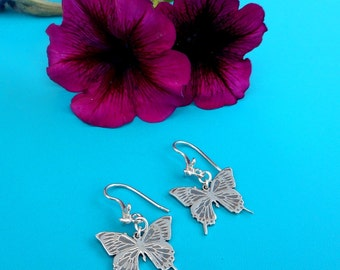 Sterling Silver Butterfly Earrings Butterfly Jewelry Made in Montana Anniversary Gift for Women Birthday Gift for Girls Silver Butterflies