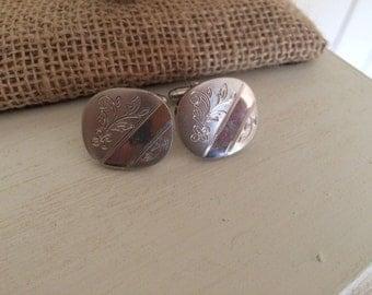 Vintage Silver Cuff Links