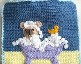 Handmade Fully Lined Crochet Baby Bag