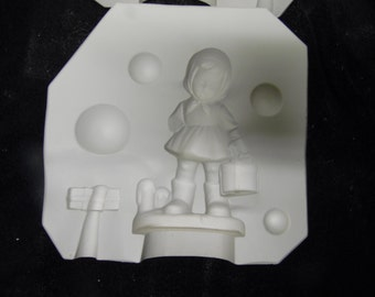 Duncan #212B Christmas Caller Girl Never been poured ceramic mold