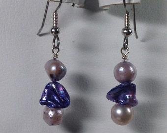 Purple Pearl Earrings -SE024