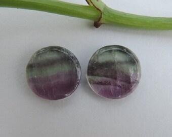 Matching Fluorite cabochons pair