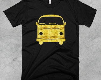 Golden Volkswagon Bus Tshirt - FREE SHIPPING on all US orders