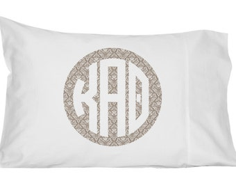 Kappa Alpha Theta Monogram Damask Pillowcase