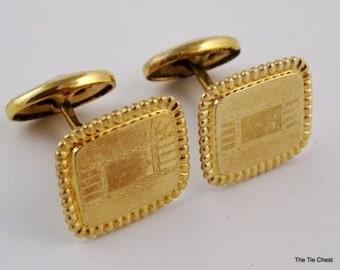 Vintage FMCO Cufflinks Finberg Manufacturing Co Gold Tone Cufflinks