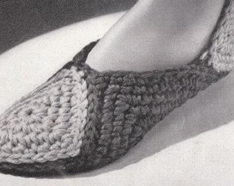 PDF Pattern Motif Slippers to Crochet Instant Download
